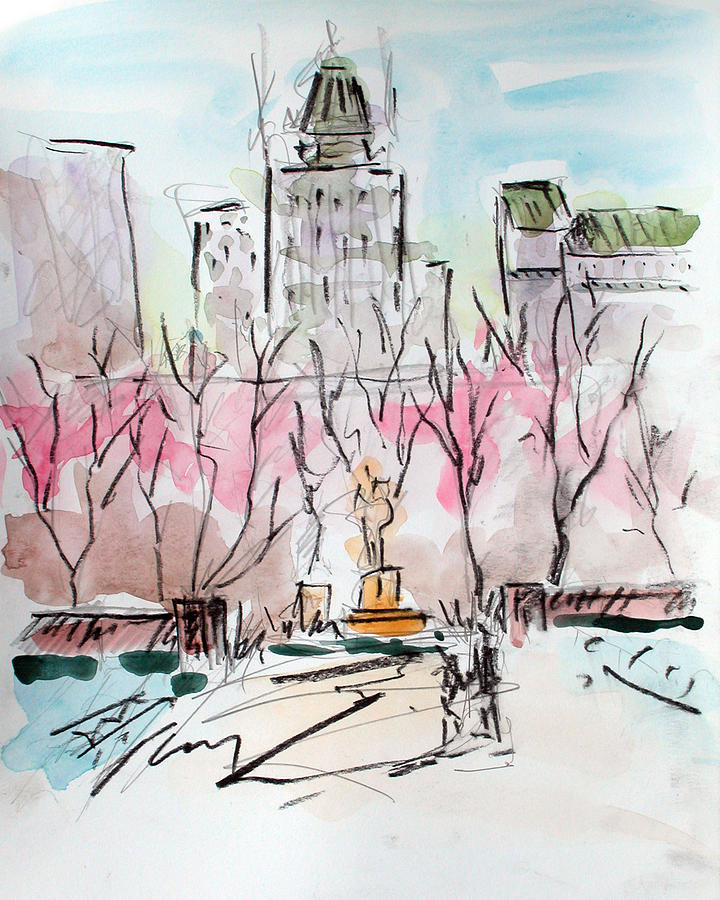 Central Park Painting - Heading Back To The Plaza by Chris Coyne