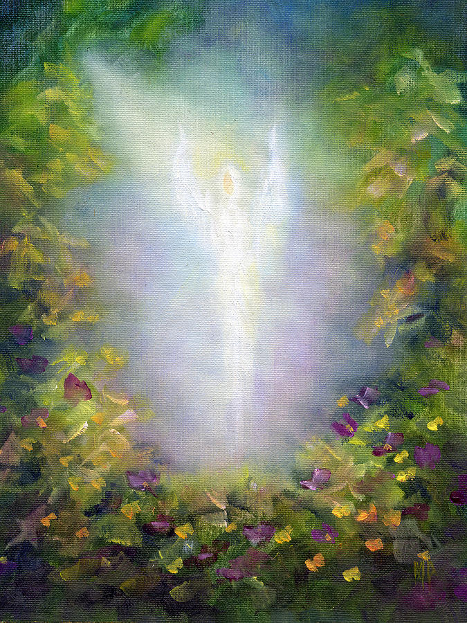 Angel Painting - Healing Angel by Marina Petro