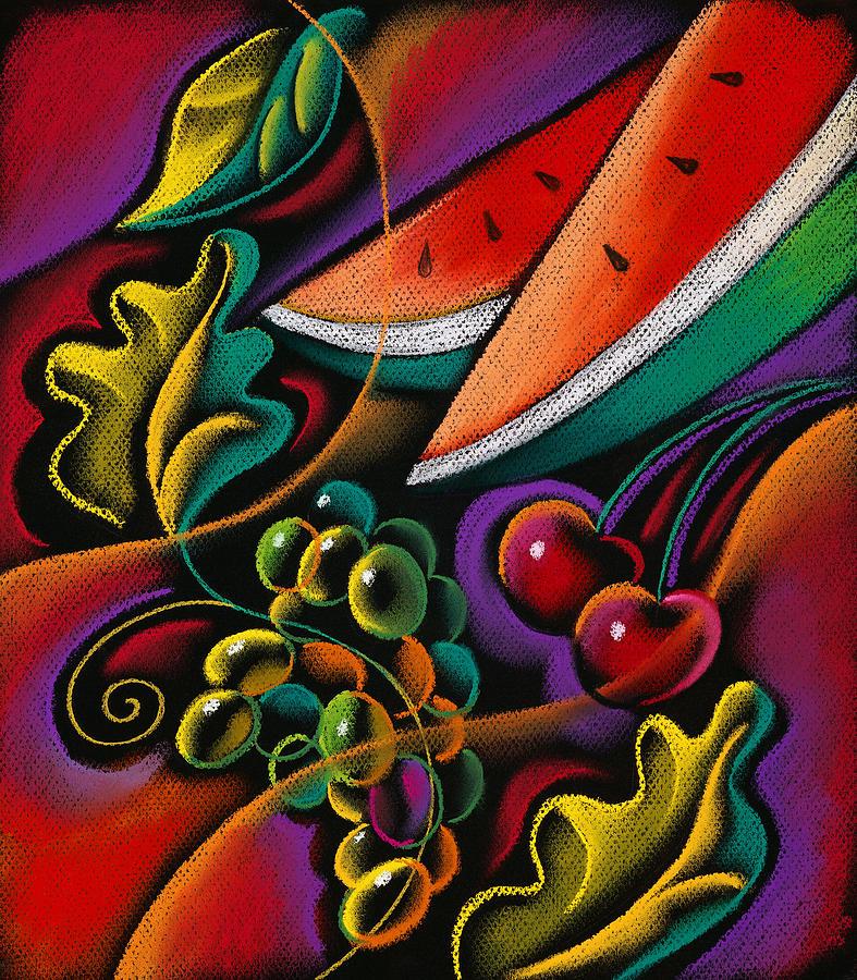 fruits for healthy living fruit art