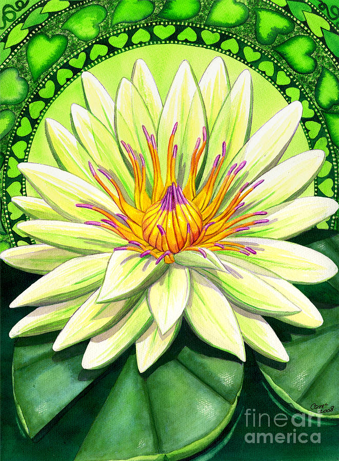 Heart Painting - Heart Chakra by Catherine G McElroy