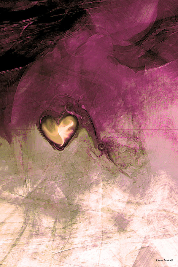 Heart Of Gold Digital Art - Heart Of Gold by Linda Sannuti