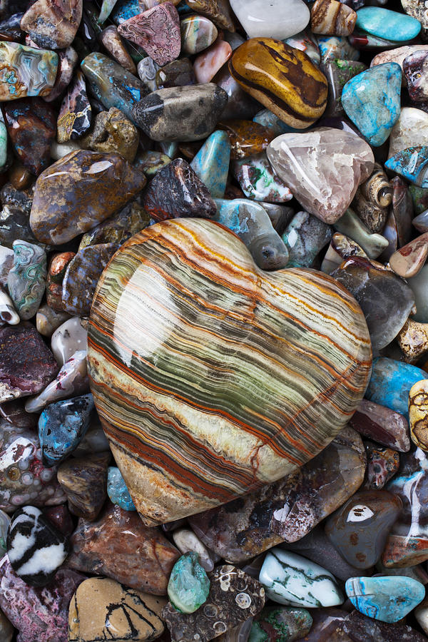 Stone Photograph - Heart Stone by Garry Gay