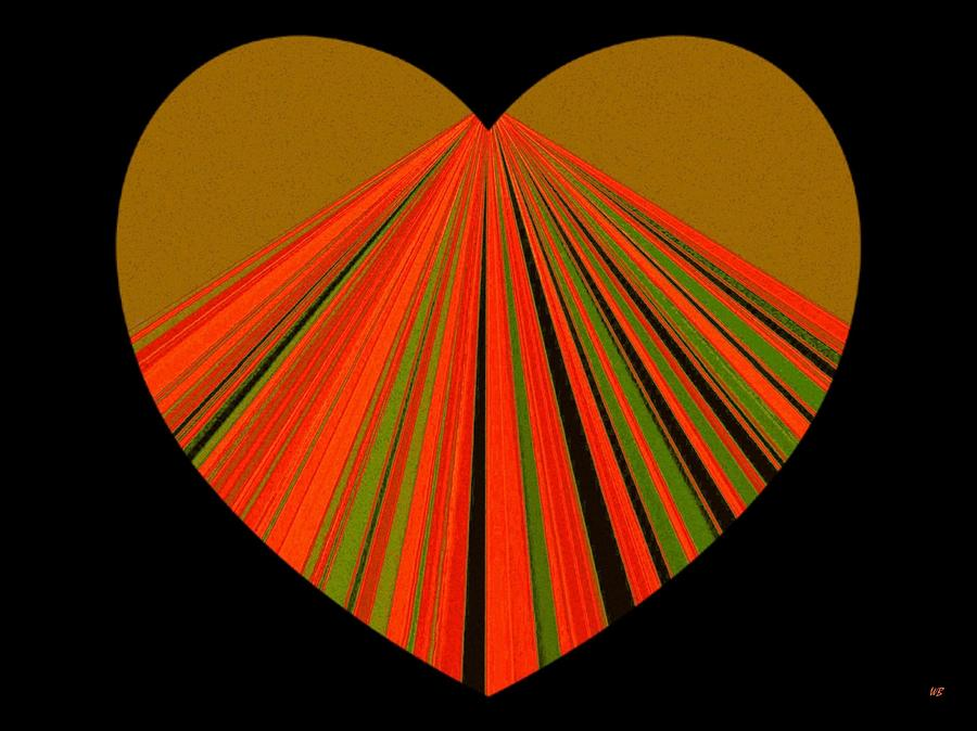 Heart Digital Art - Heartline 5 by Will Borden