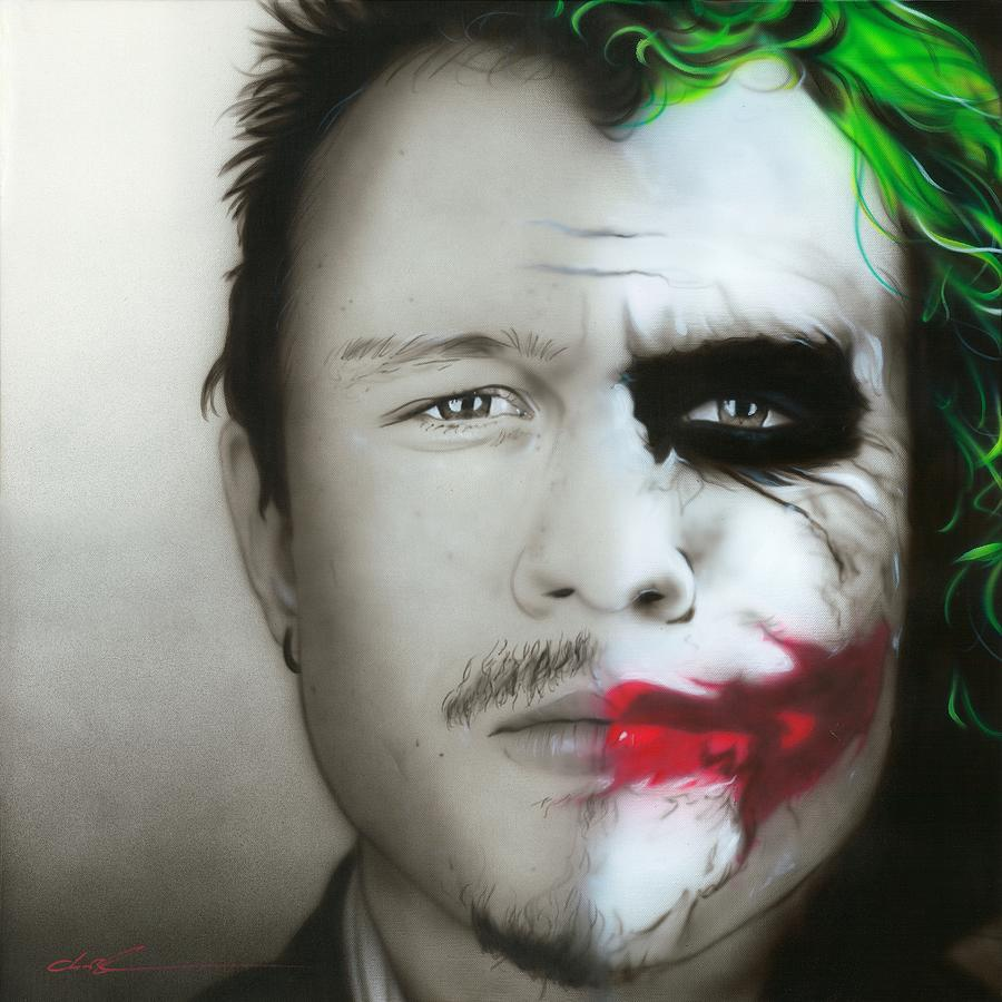 Heath Ledger Painting - heath / Joker by Christian Chapman Art
