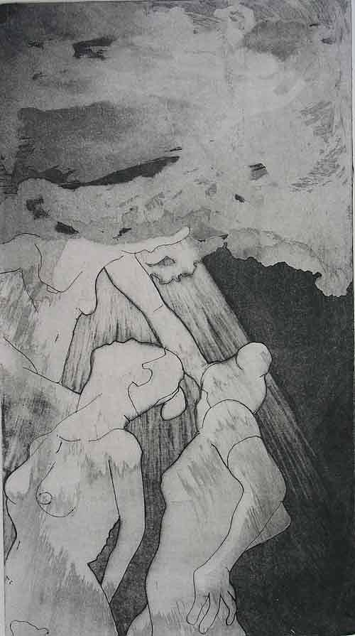 Etching Drawing - Heaven Is by Brad Wilson