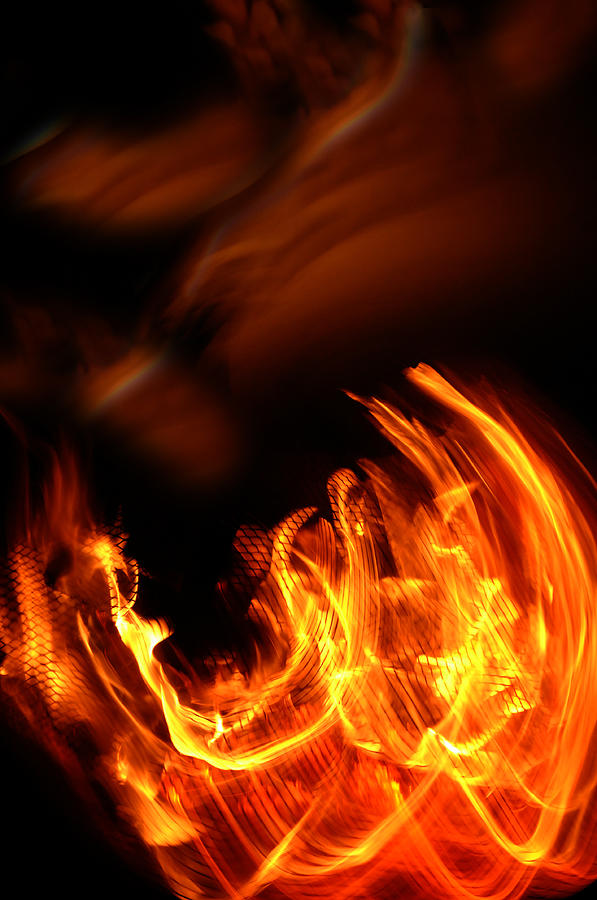 Fire Photograph - Heavenly Flame by Donna Blackhall