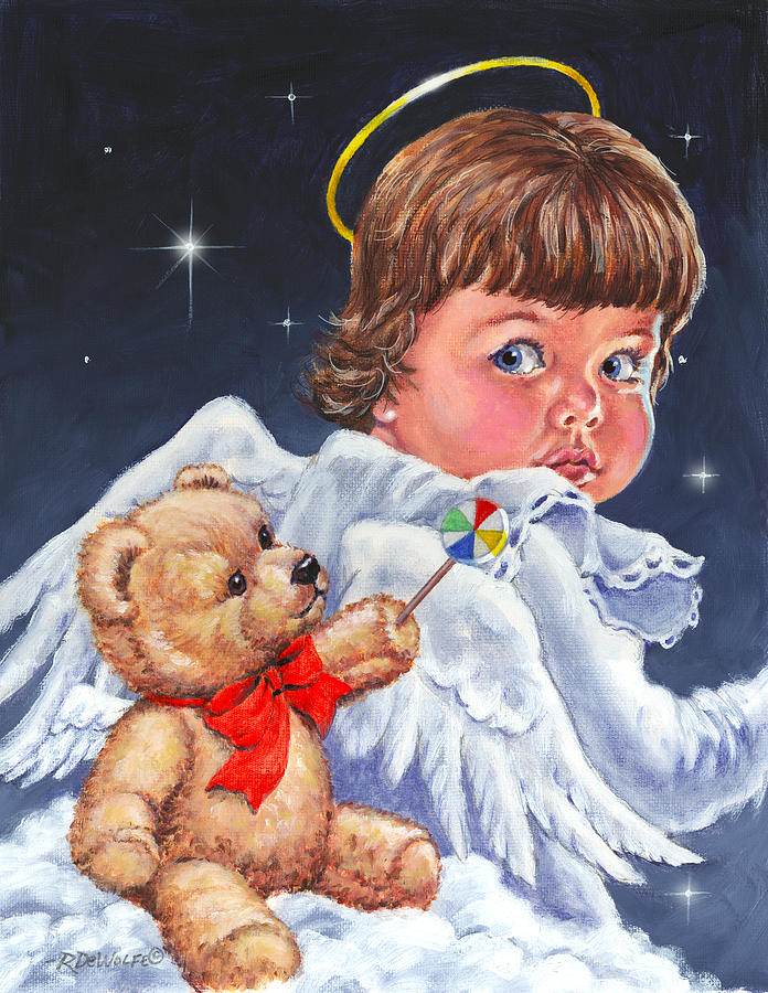 Angel Painting - Heavenly by Richard De Wolfe