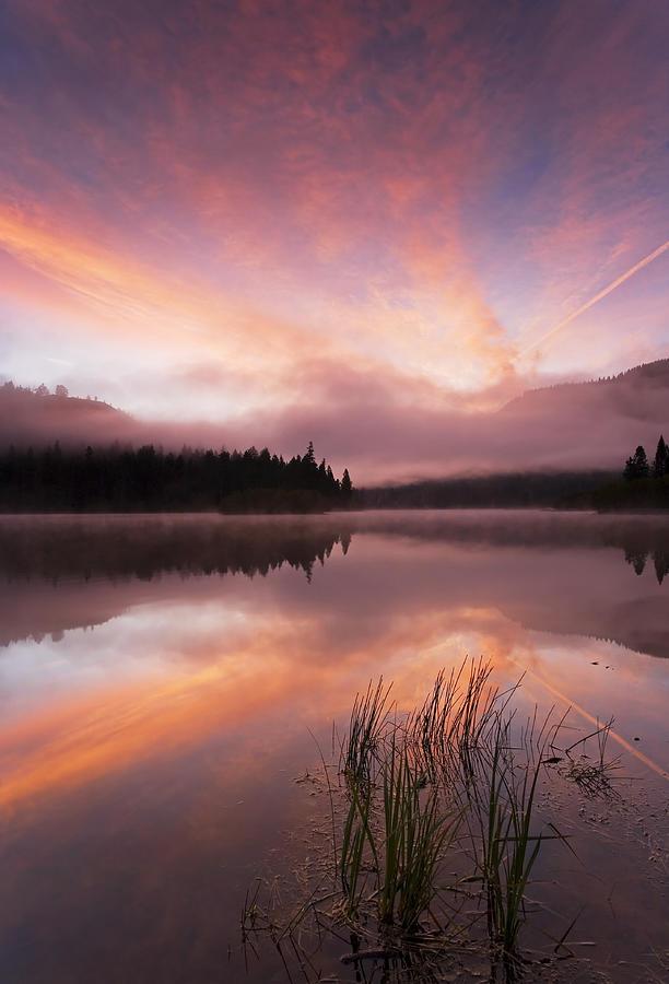 Sunrise Photograph - Heavenly Skies by Mike  Dawson