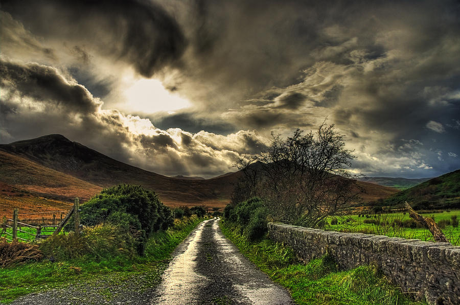 Magical Mourne Mountains Pictures Photograph - Heavens Path by Kim Shatwell-Irishphotographer