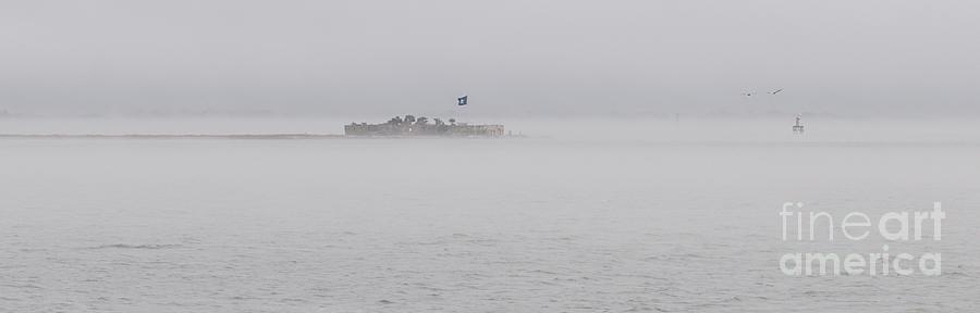 Heavy Fog Over Castle Pinckney Photograph