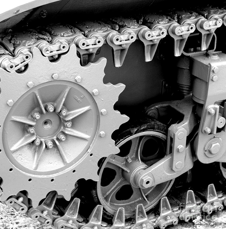 Tank Photograph - Heavy Metal In Gray by Valerie Fuqua
