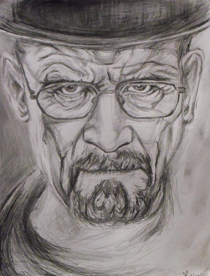Breaking Bad Drawing - Heisenberg by Hannah Curran