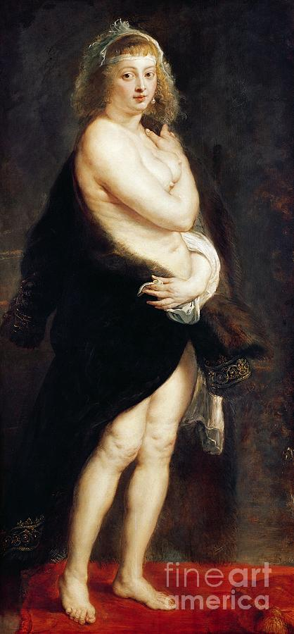 Helena Painting - Helena Fourment In A Fur Wrap by Rubens