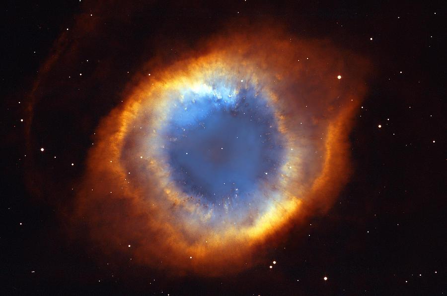 Helix Photograph - Helix Nebula by Ricky Barnard