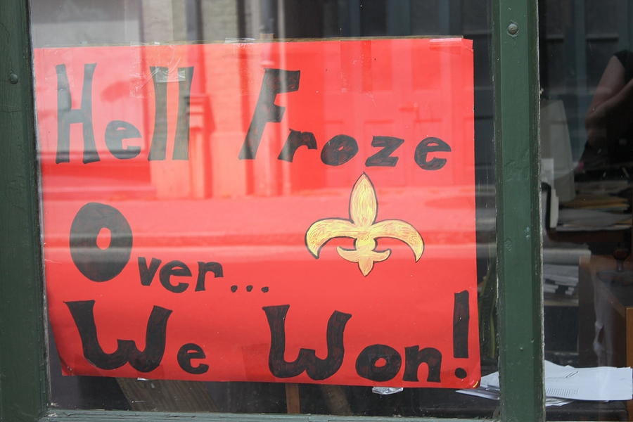 New Orleans Saints Photograph - Hell Froze by Lauri Novak