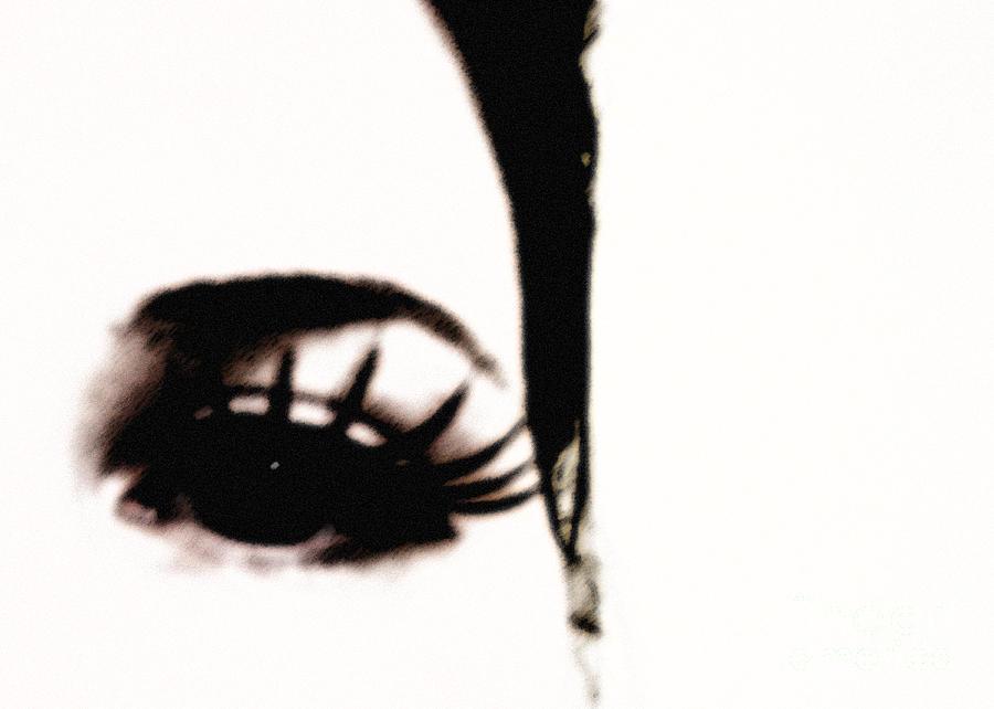 Eye Photograph - Hello by Amanda Barcon