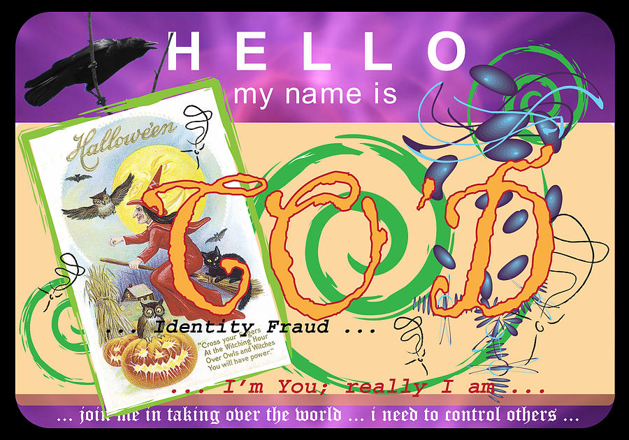 I Made This Name Tag For The Wacky Christine O'donnell. The Political Scene In The United States Digital Art - Hello My Name Is Cod by Donna Zoll