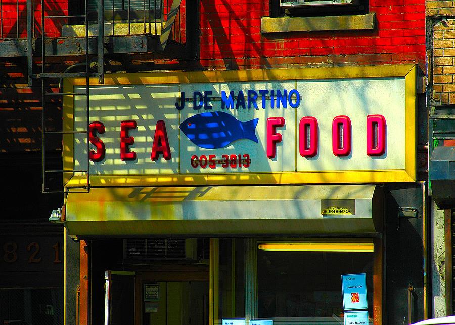 Hells Kitchen Nyc - Sea Food Painting