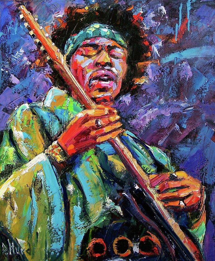 Jimi Hendrix Painting - Hendrix by Debra Hurd
