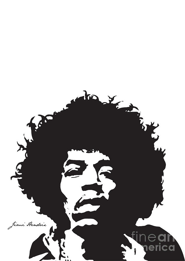 Hendrix Digital Art - Hendrix No.01 by Caio Caldas