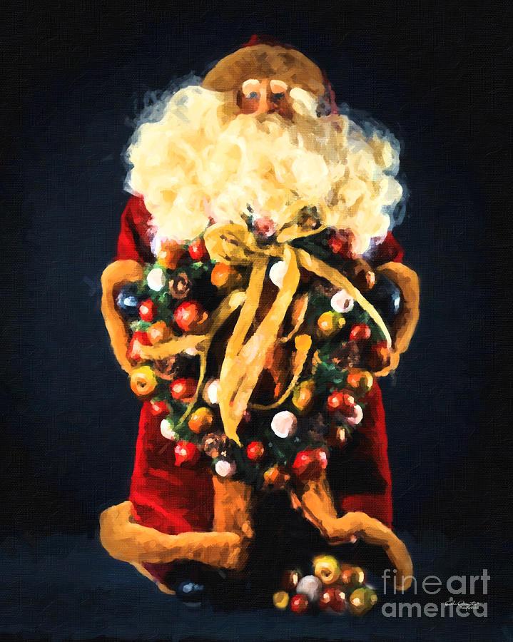 Here Comes Santa Painting