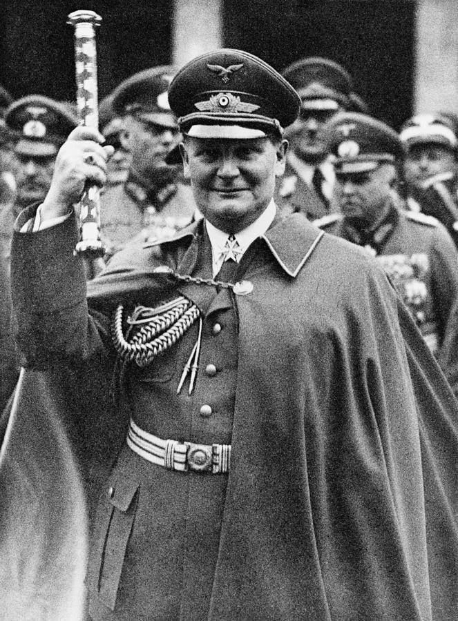 History Photograph - Hermann Goering 1893-1946, Holding by Everett