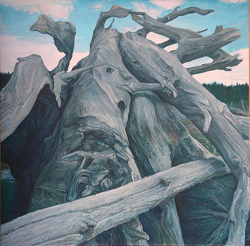 Landscape Painting - Heroic Confrontation by James Sparks