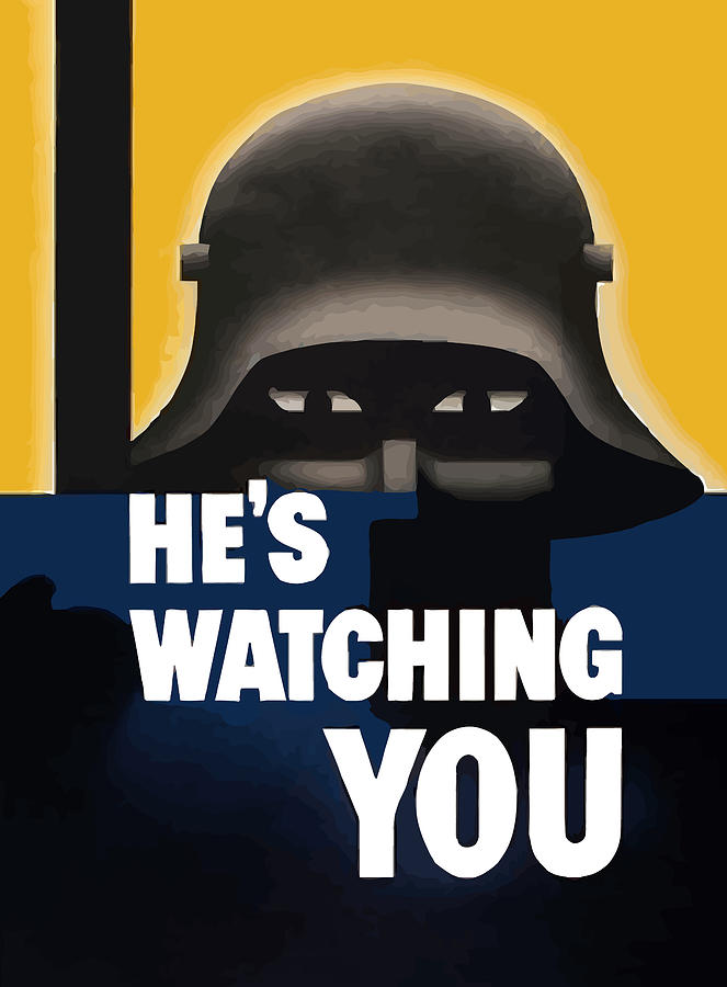 Hes Watching You Painting