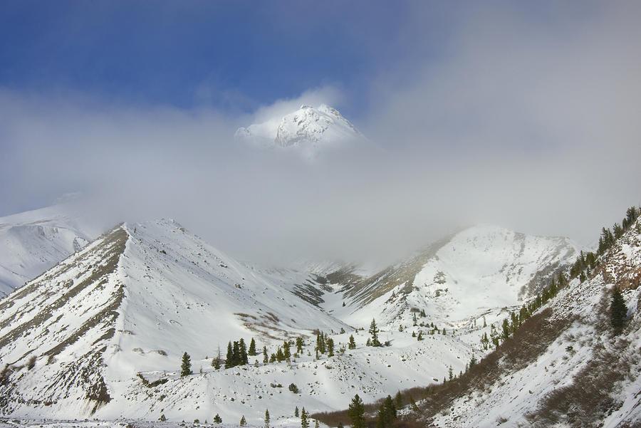 Mt. Hood Photograph - Hidden In Fog by Mike  Dawson
