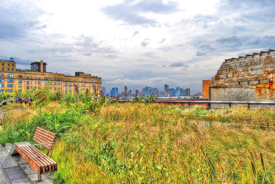 High Line Park Photograph - High Line On The Hudson by Randy Aveille