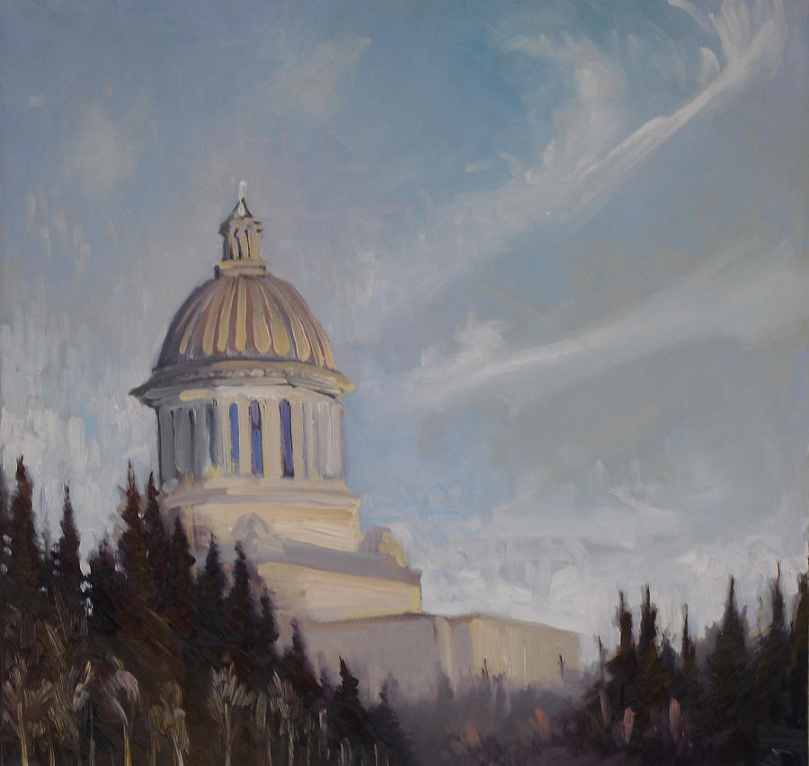 Plein Air Painting - High On A Hill by Gregg Caudell