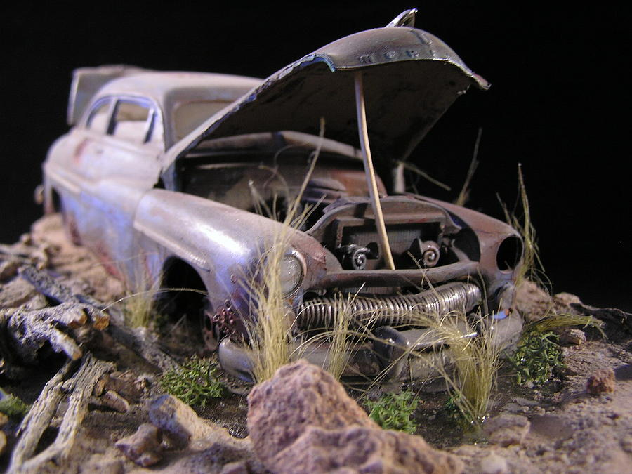 Classic Car Sculpture Sculpture - High School Dream by James Roark