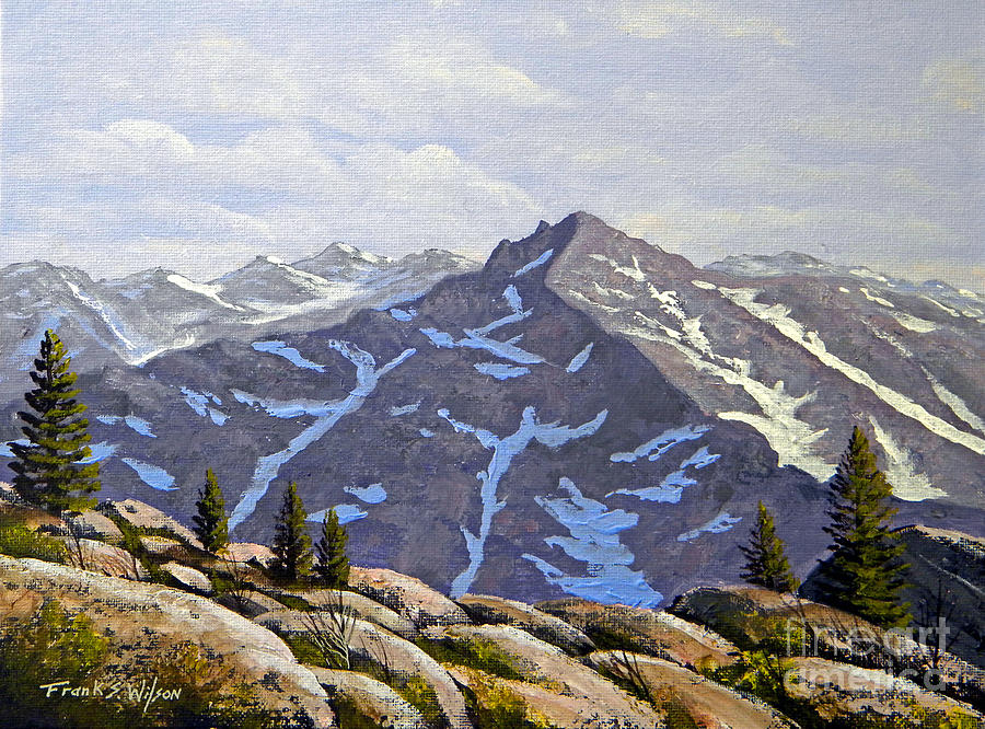 Frank Wilson Painting - High Sierras Study by Frank Wilson