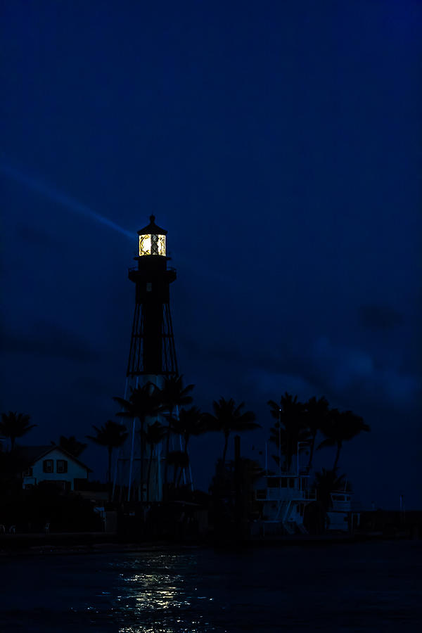 Hillsboro Light After Sundown Photograph