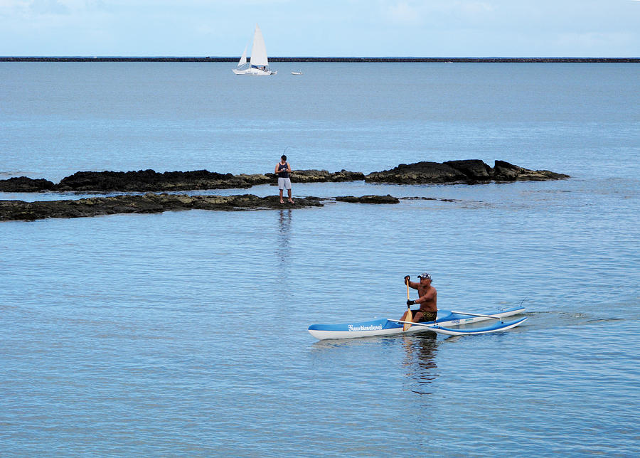 Hilo bay on the big island hawaii sea kayaking fishing and for Kayak fishing hawaii