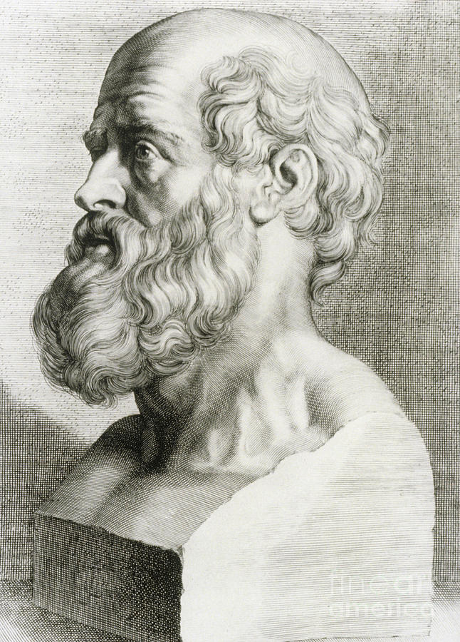 History Photograph - Hippocrates, Greek Physician by Science Source
