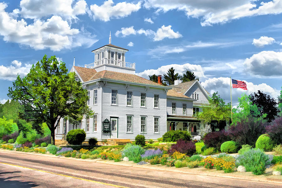 Historic Cupola House In Egg Harbor Door County Painting