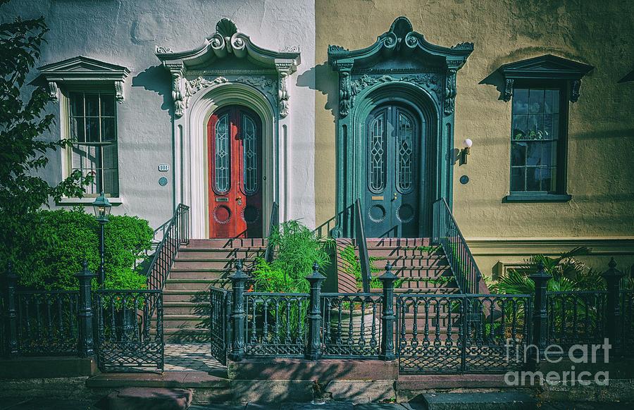Historic Doors Of Charleston On Bull St Photograph