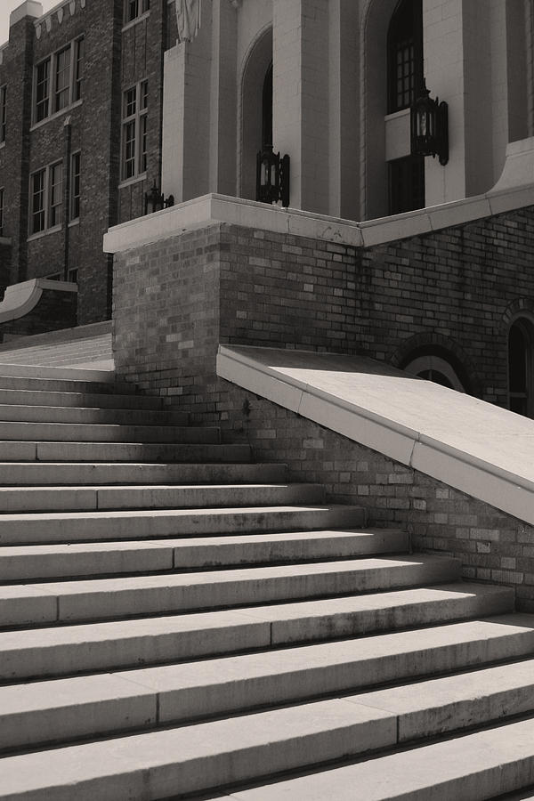 Little Rock Photograph - Historic Steps Little Rock Central High School by Brian M Lumley