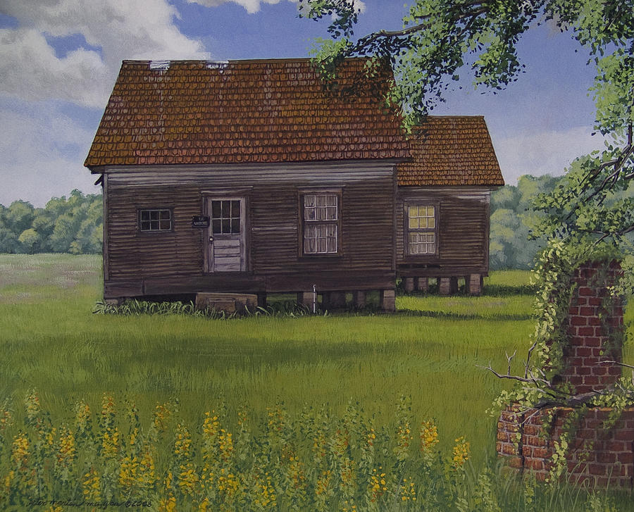 Landscape Painting - Historical Warrenton Farm House by Peter Muzyka