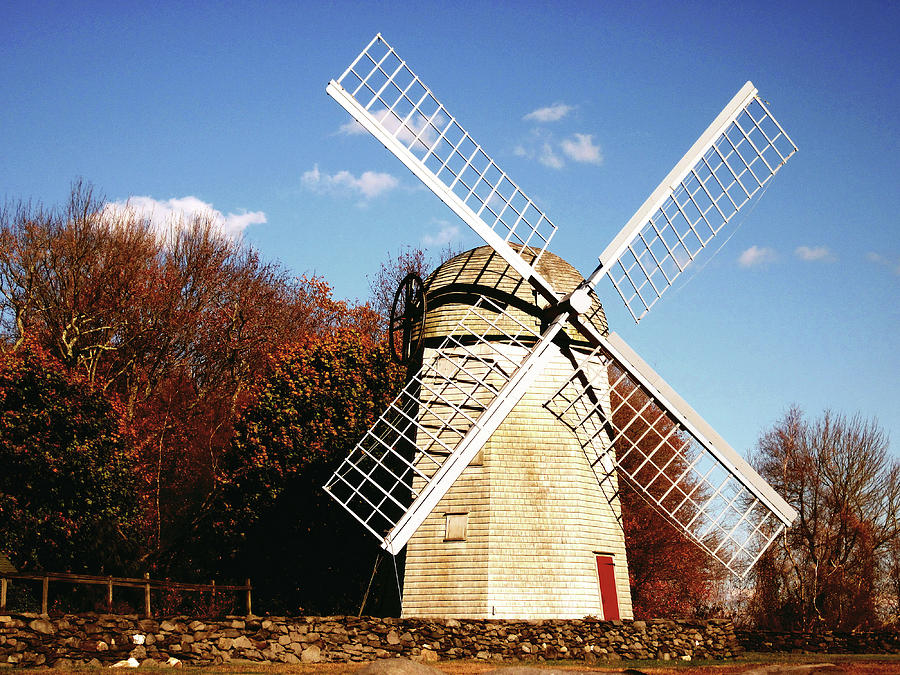 Historical Windmill Photograph - Historical Windmill by Lourry Legarde