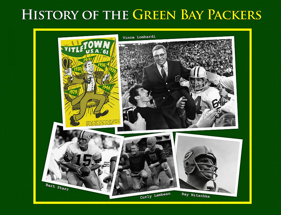 History Of The Packers Number 1 Painting By Big 88 Artworks