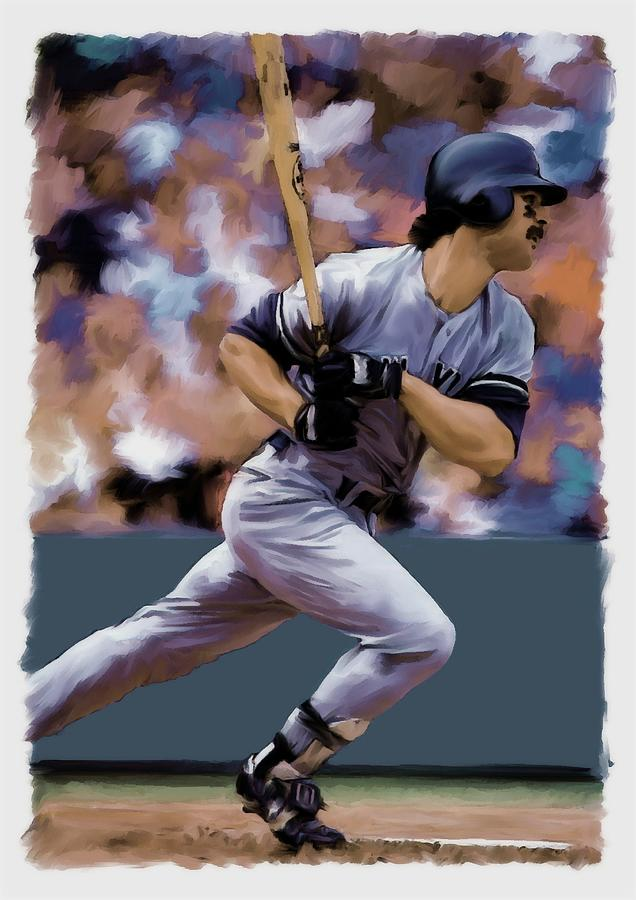 Don Mattingly Painting - Hit Man  Don Mattingly  by Iconic Images Art Gallery David Pucciarelli