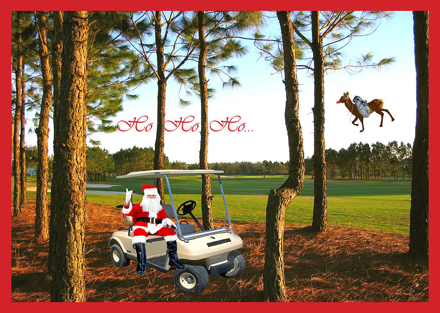 Holiday Card Photograph - Ho Ho Ho by Adele Moscaritolo