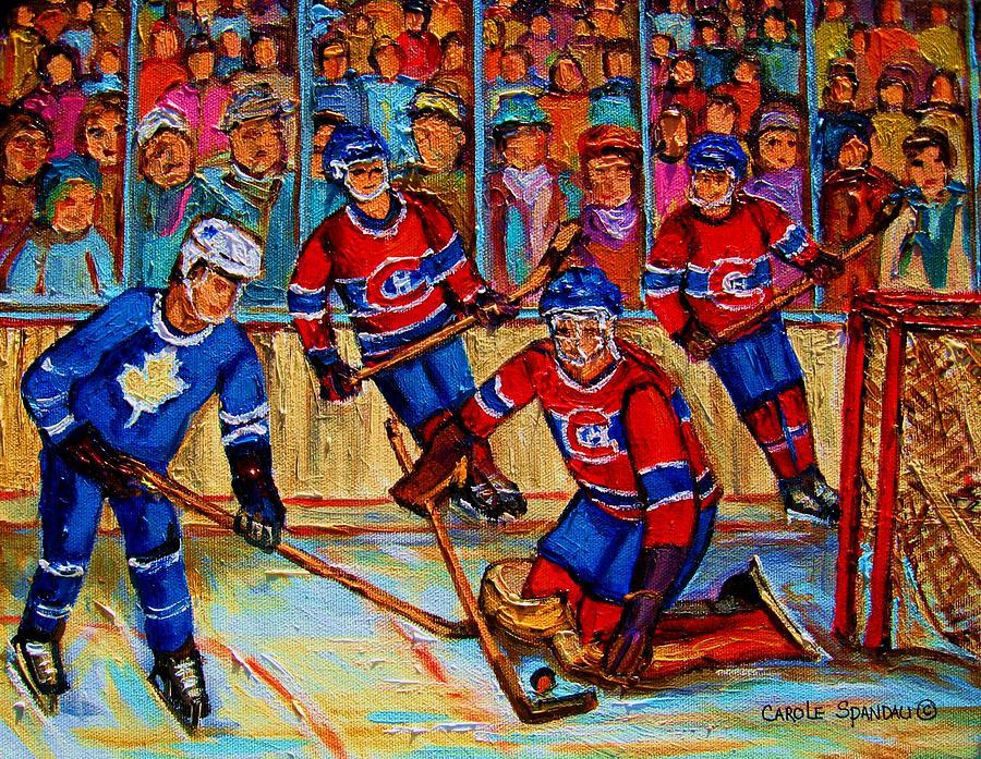 Hockey Painting - Hockey  Hero by Carole Spandau