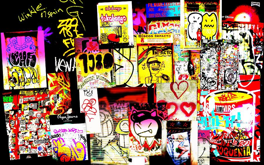 Graffiti Photograph - Hola Barcelona by Funkpix Photo Hunter