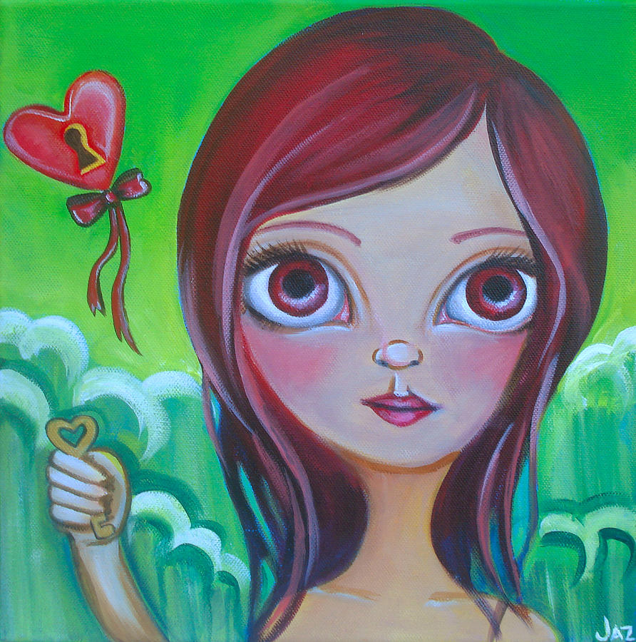 Pop Painting - Holding The Key by Jaz Higgins