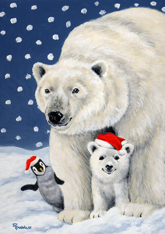Winter Painting - Holiday Greetings by Richard De Wolfe