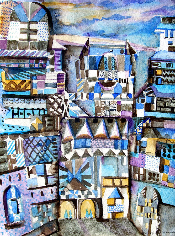 City Painting - Homage To Paul Klee by Mindy Newman