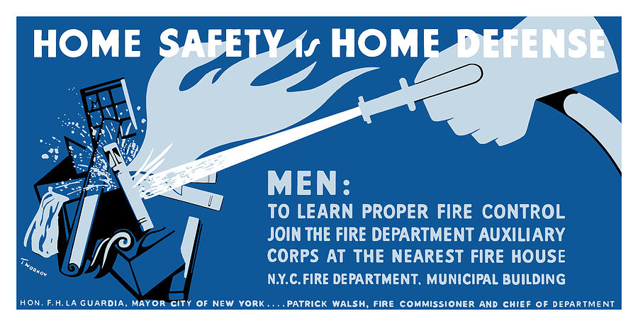Wpa Painting - Home Safety Is Home Defense by War Is Hell Store